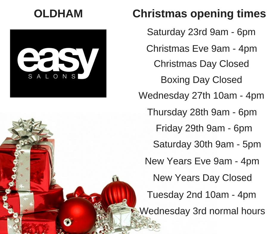 oldham christmas opening times. Black Bedroom Furniture Sets. Home Design Ideas